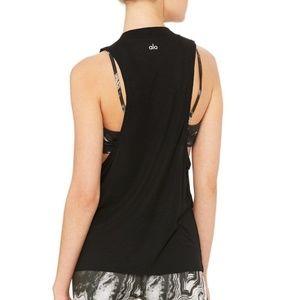 Alo Yoga Heat Wave Tank in Black